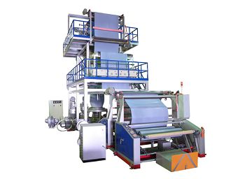 this is a picture of our blown film extrusion machines